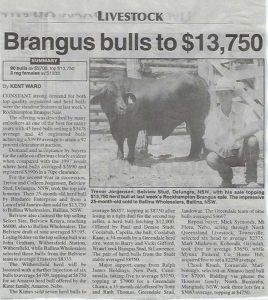 1998 QCL Article Rockhampton sale top
